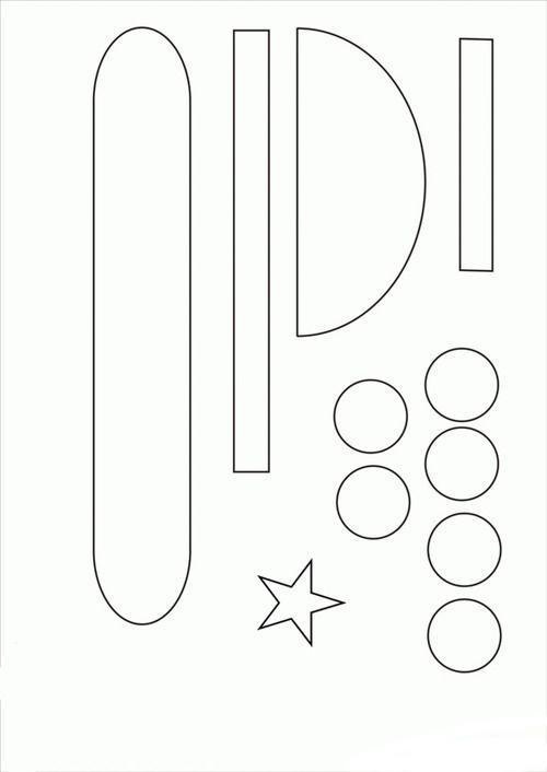 танк аппликация из бумаги для детей шаблоны распечатать трафарет