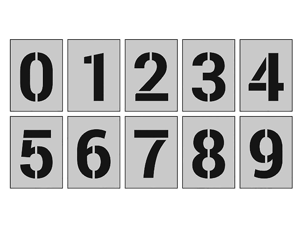 трафарет шаблон цифр от  1 до 10 распечатать