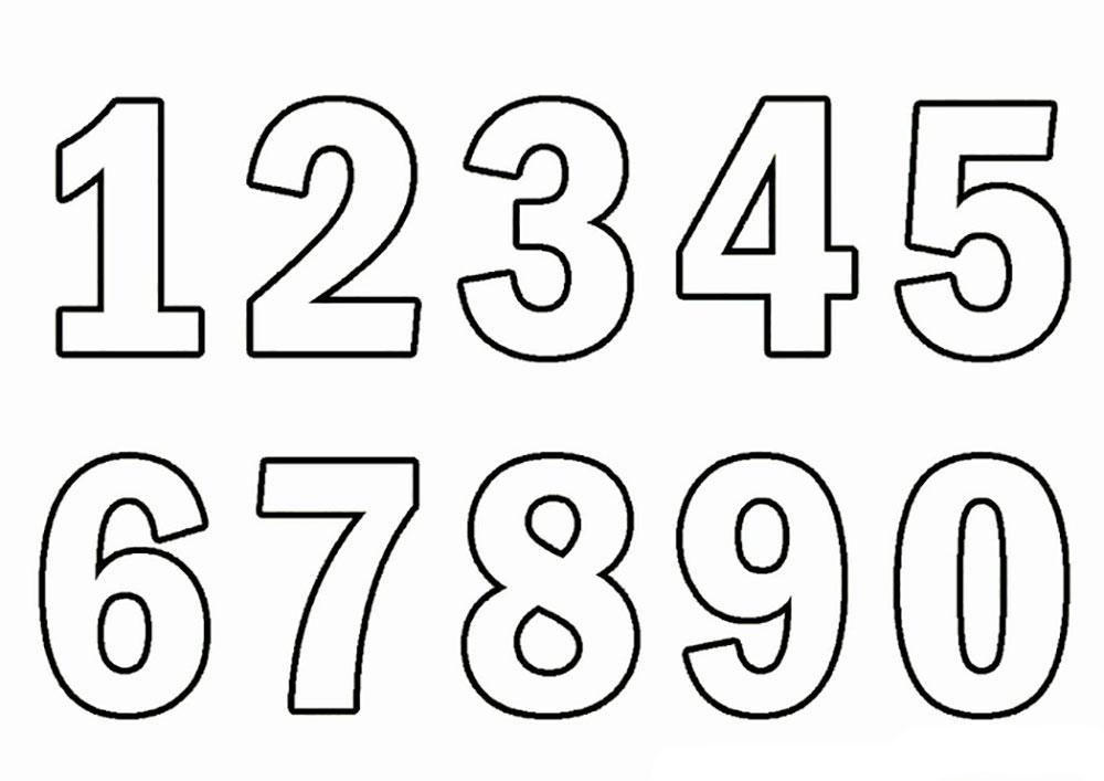 шаблоны цифр от  1 до 10 распечатать
