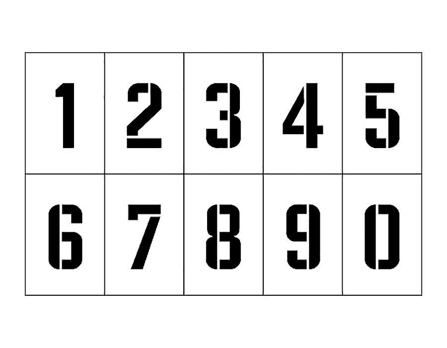 скачать трафареты цифр от 1 до 10