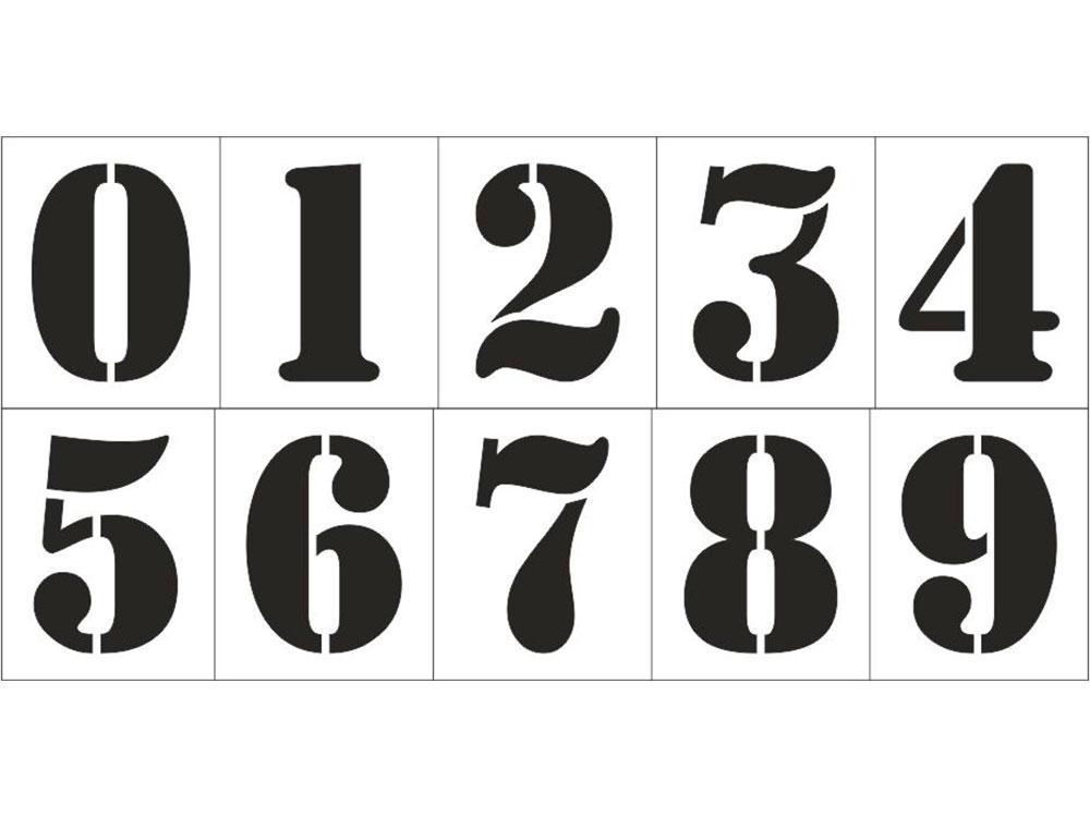 шаблоны цифр для фото кабан