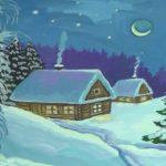 раскраска зима распечатать бесплатно
