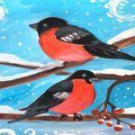раскраска снегирь для детей распечатать бесплатно