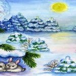 раскраска зимняя сказка распечатать бесплатно