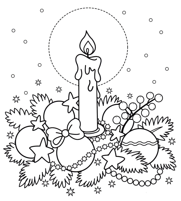 раскраска новогодняя гирлянда распечатать бесплатно