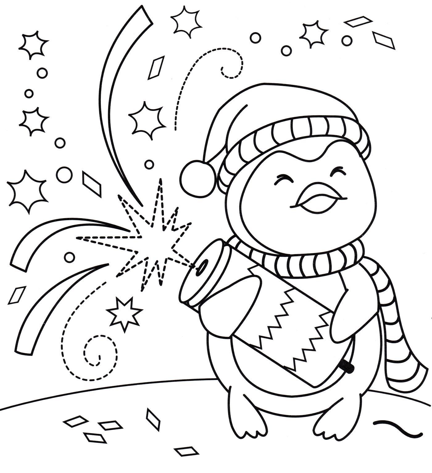 раскраска хлопушка новогодняя распечатать бесплатно