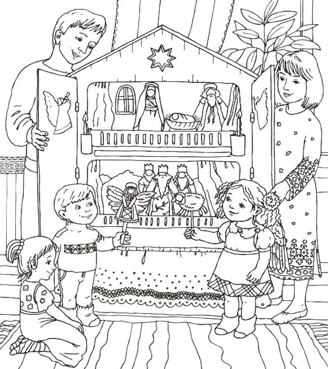 раскраска колядки для детей распечатать бесплатно