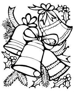 раскраска новогодние колокольчики распечатать