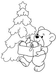 раскраска новогодний мишка распечатать бесплатно