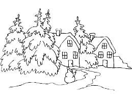 раскраска времена года зима распечатать бесплатно
