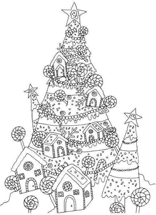 Раскраска антистресс Новый год