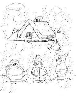 раскраска снегопад для детей распечатать бесплатно