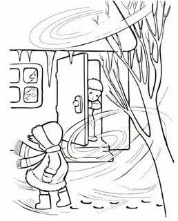 раскраска метель для детей распечатать