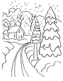 раскраска снегопад для малышей распечатать бесплатно