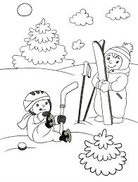раскраска зима для детей распечатать бесплатно