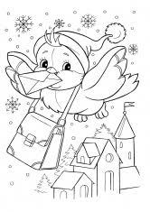 раскраска зима для детей 6-7 лет распечатать бесплатно