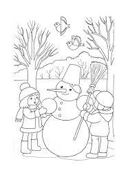 раскраска зима для детей 6 7 лет  распечатать бесплатно