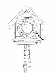 новогодние часы для детей распечатать