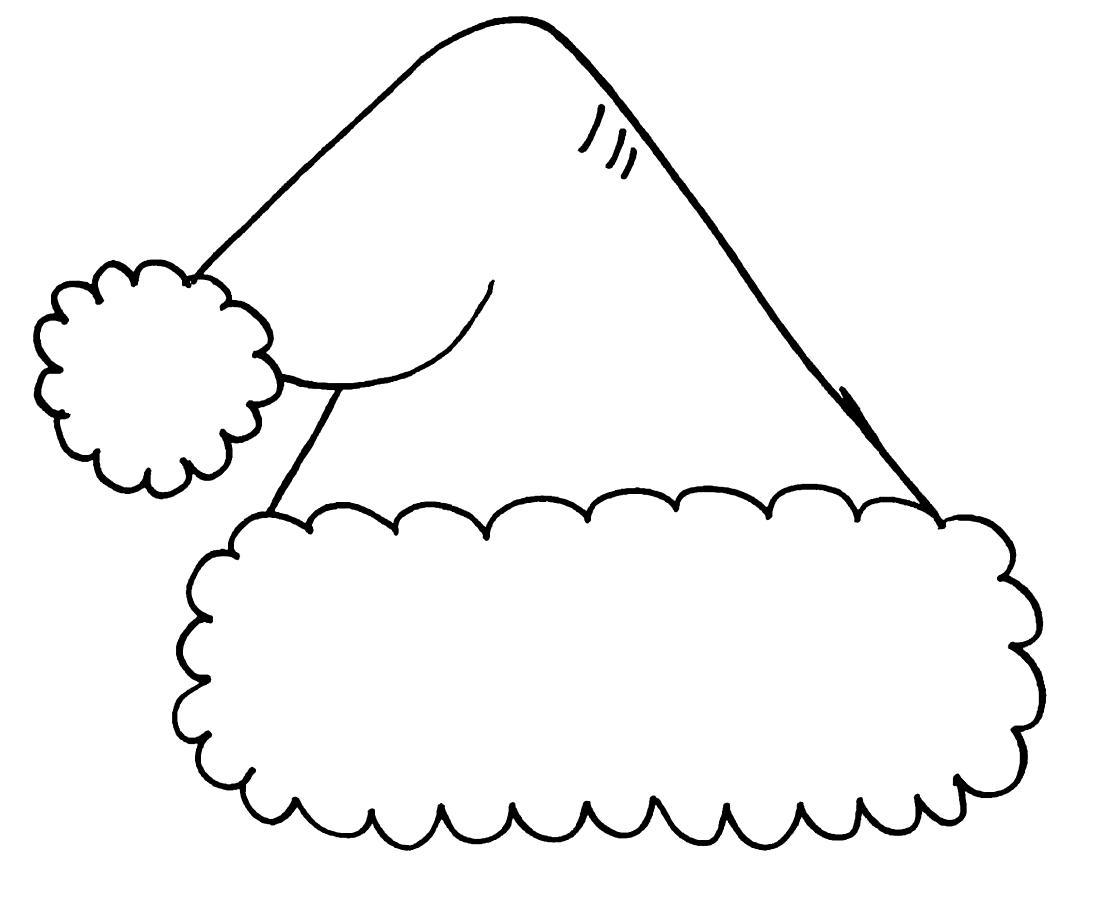 Раскраска Новогодняя шапка распечатать бесплатно