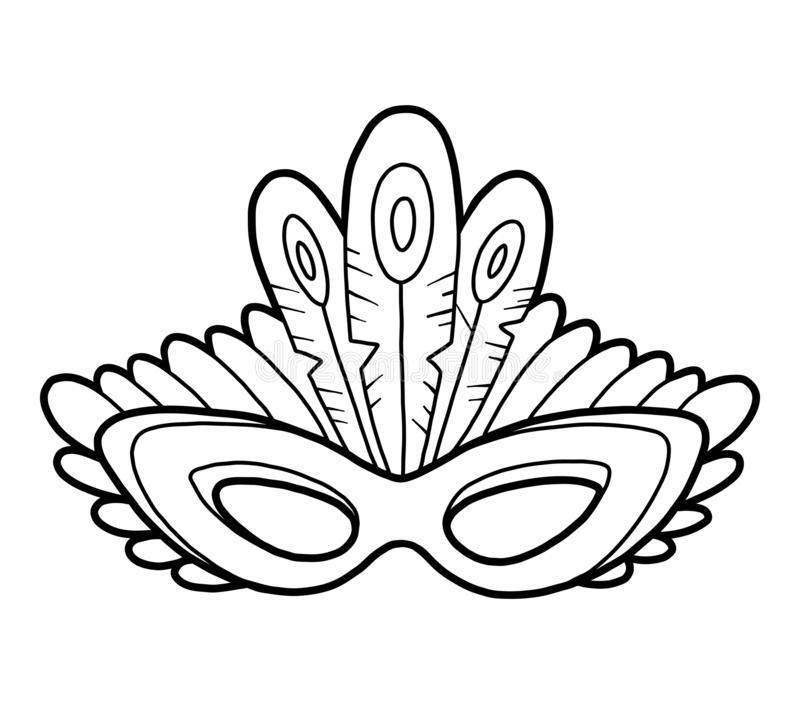 раскраска новогодняя маска распечатать
