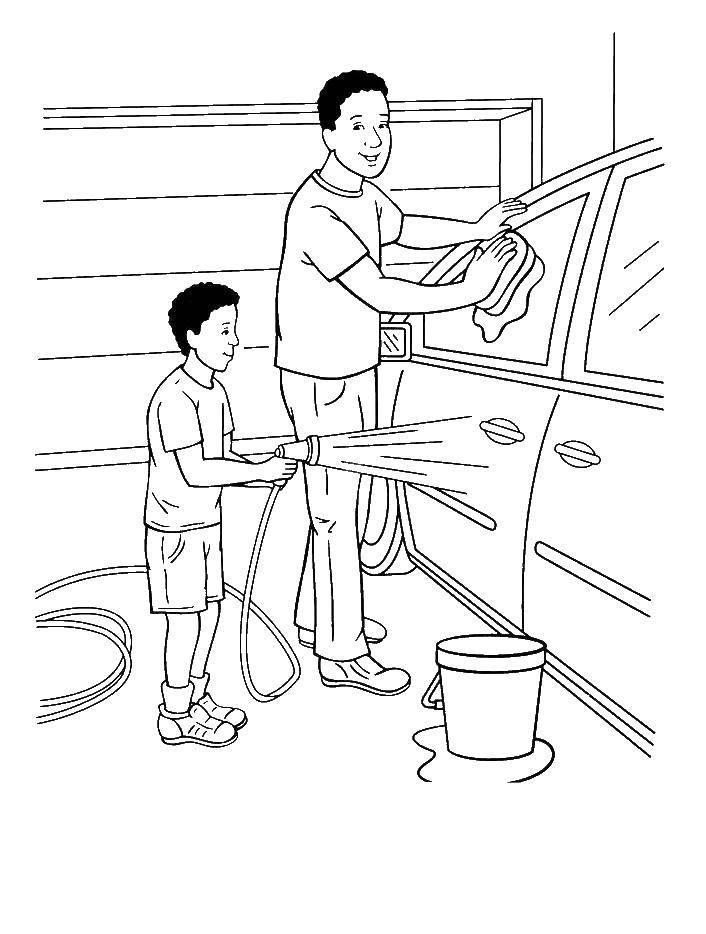 раскраска подарок папе распечатать бесплатно