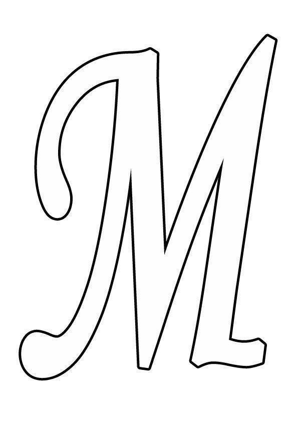 раскраска буква м для детей 3 4 лет распечатать