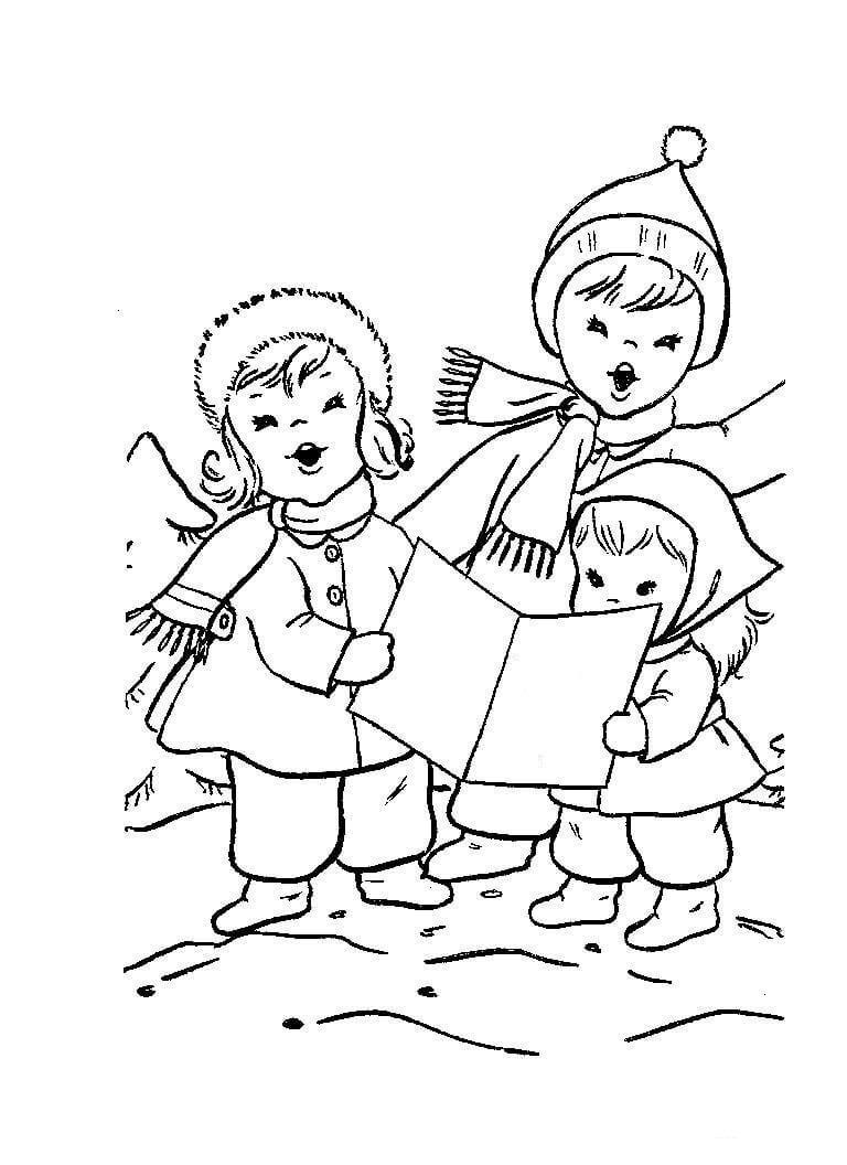раскраска колядки для дошкольников распечатать