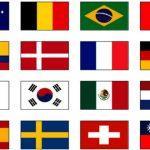 Раскраска Флаги стран мира распечатать бесплатно