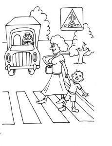 раскраска дорожные знаки для детей 4 5 лет распечатать бесплатно