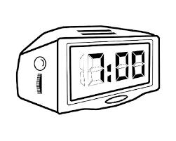 раскраска часы настольные для детей распечатать