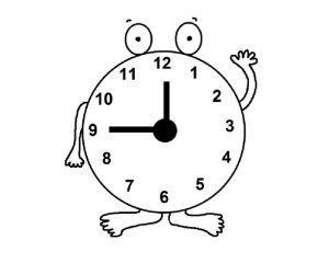 раскраска часы для детей распечатать бесплатно