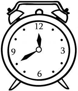 раскраска часы со стрелками для детей распечатать