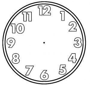 раскраска часы без стрелок распечатать
