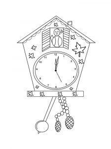 раскраска часы с кукушкой