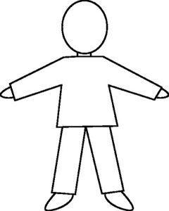 раскраска человек для детей распечатать бесплатно