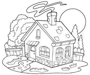 раскраска деревня для детей распечатать бесплатно