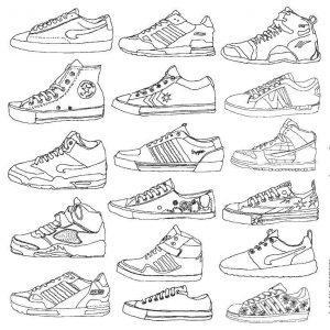 раскраска обувь для детей распечатать бесплатно