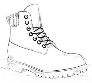 раскраска обувь для малышей