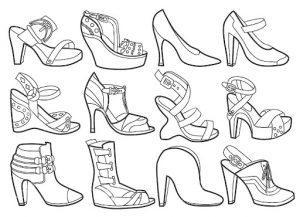 обувь раскраска для детей 5-6 лет