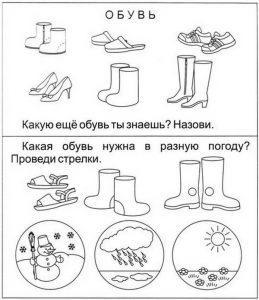 обувь раскраска для детей картинки