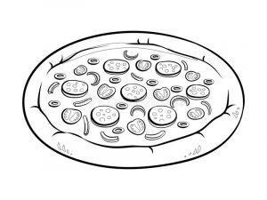 раскраска пицца распечатать
