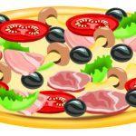 раскраска пицца распечатать бесплатно