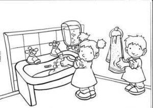 раскраска режим дня для дошкольников распечатать