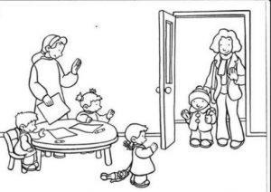 раскраска режим дня для детей распечатать бесплатно