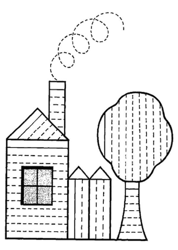 Раскраска штриховка для детей
