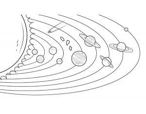 раскраска солнечная система распечатать бесплатно