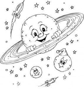 Раскраска Солнечная система, планеты