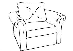 раскраски для детей 3 4 лет мебель распечатать бесплатно