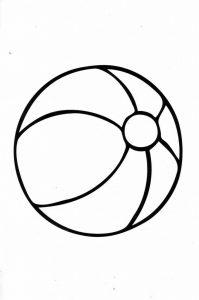 раскраска мяч распечатать бесплатно