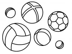 раскраска мяч для детей распечатать